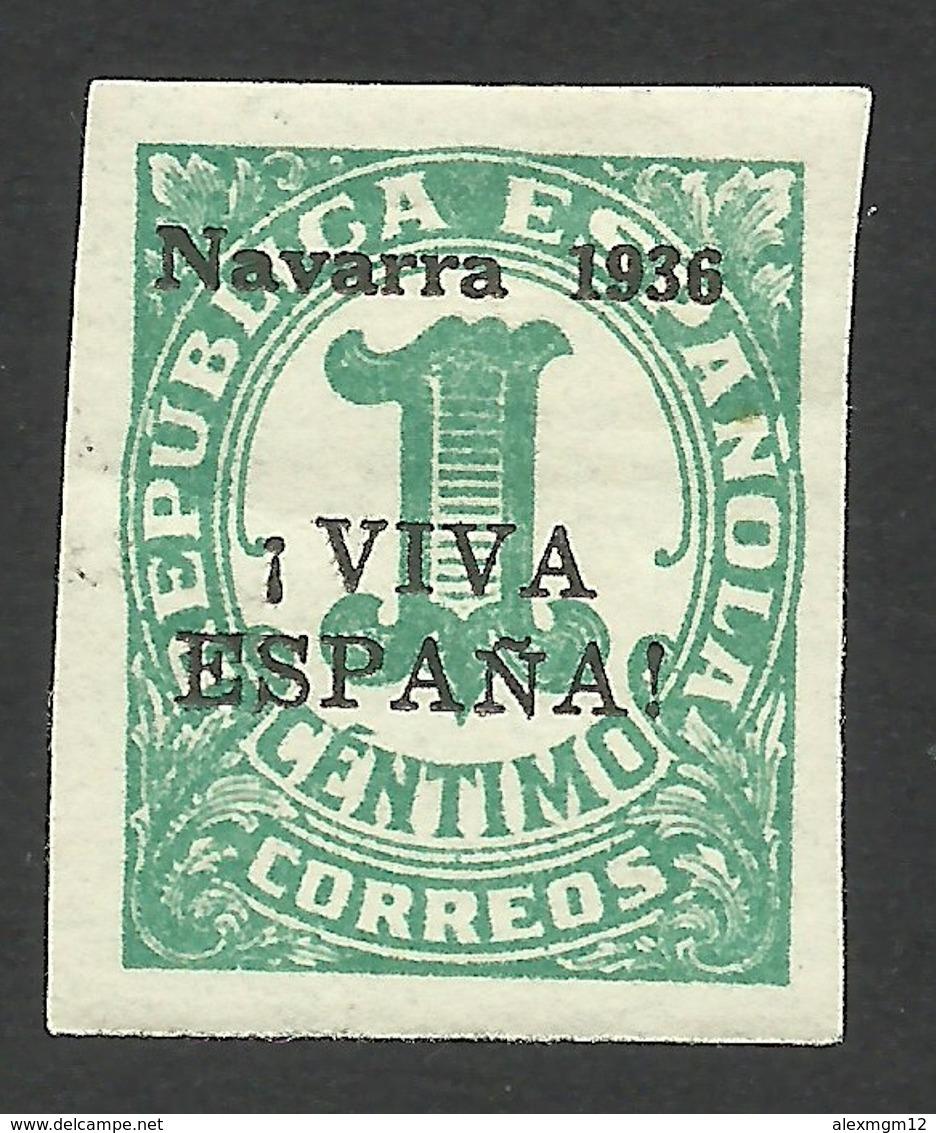 Spain, Pamplona, Navarra 1 C. 1936, Mi # 1, MH - Nationalist Issues