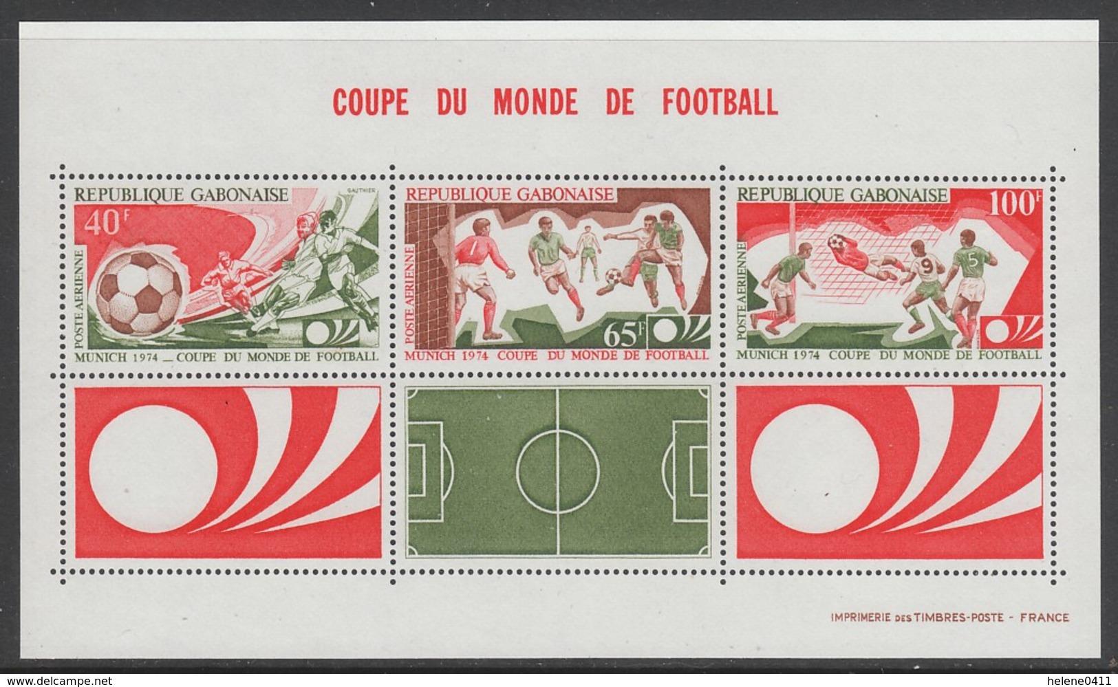BLOC NEUF DU GABON - COUPE DU MONDE DE FOOTBALL 1974 N° Y&T 23 - World Cup