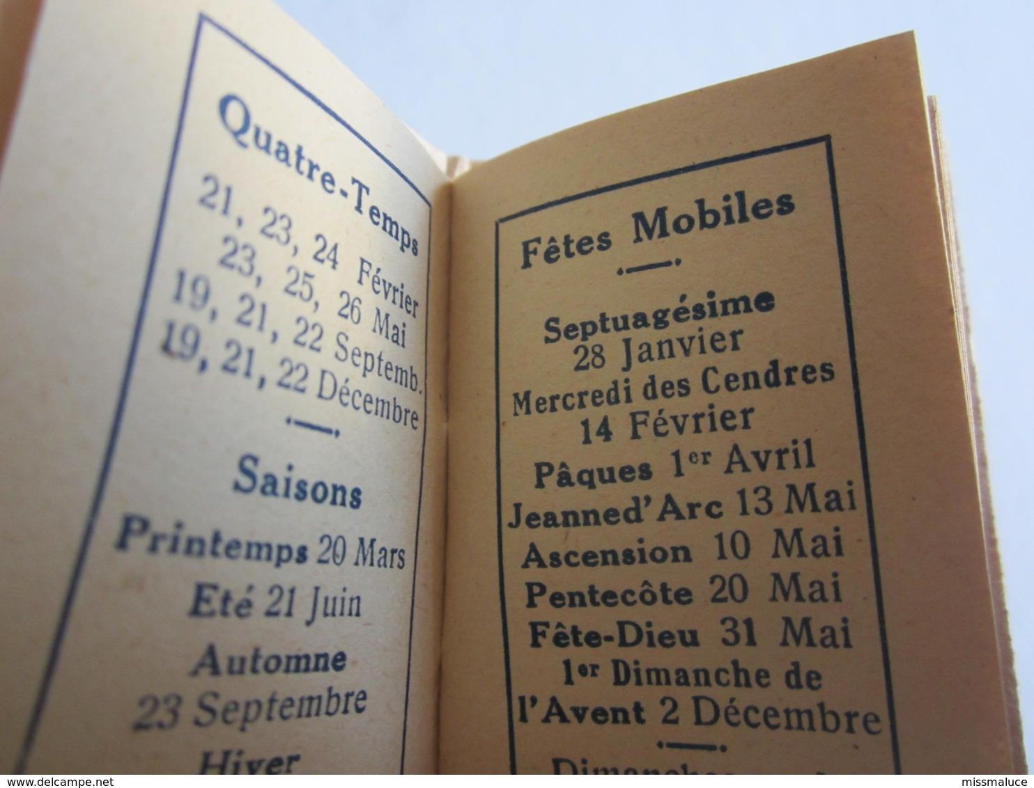 Petit Calendrier Année 1945 Illustrateur Normandie - Calendriers