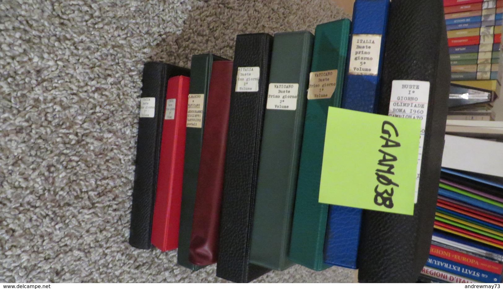 FDC COLLECTION- 8 BOOKS 615 FDC (480 FROM ITALY) - Collezioni (in Album)