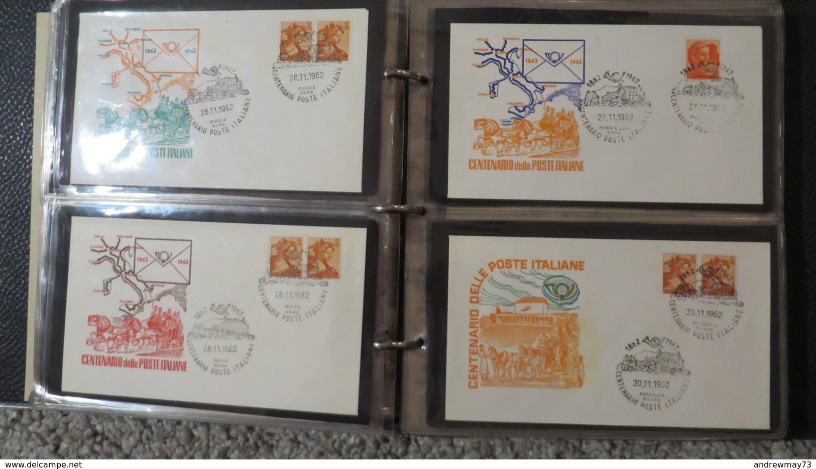 FDC COLLECTION- 8 BOOKS 615 FDC (480 FROM ITALY) - Francobolli