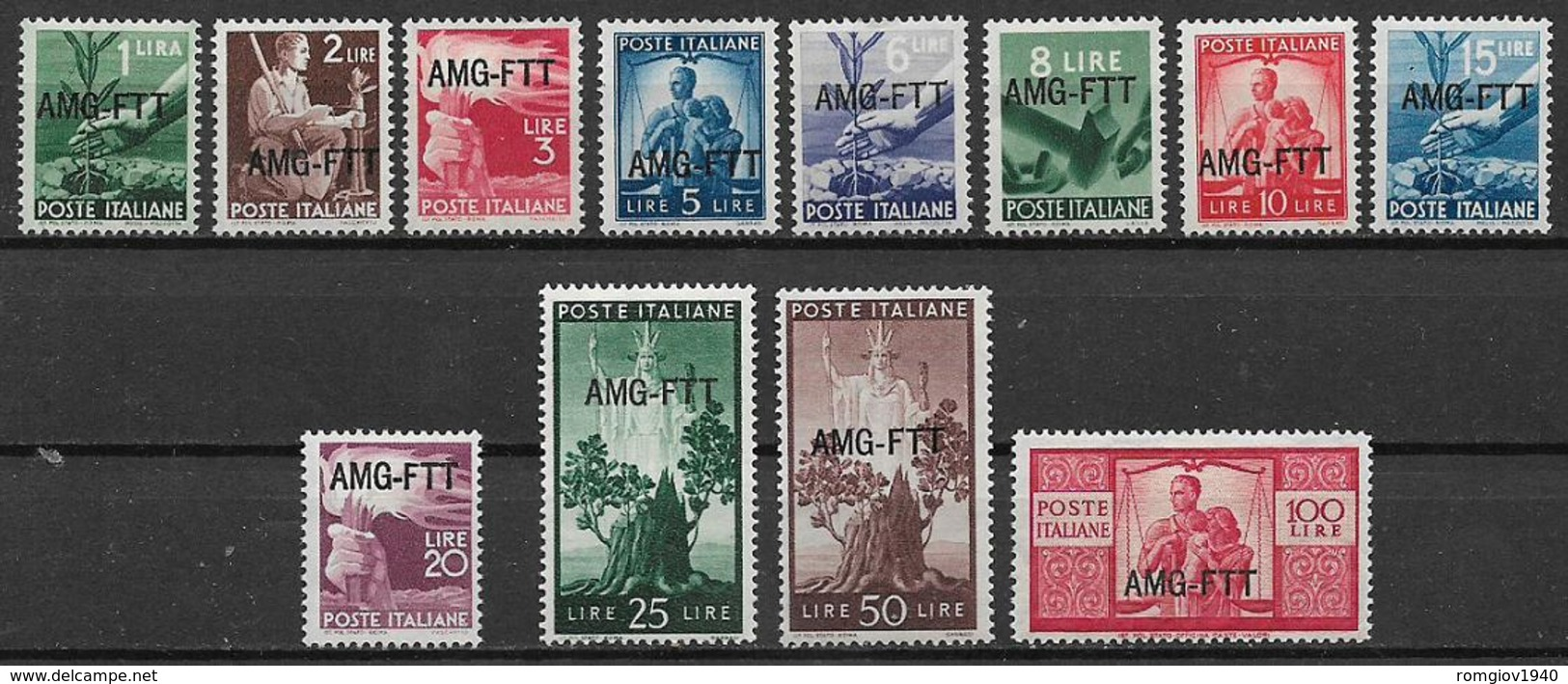 TRIESTE AMG-FTT. 1949-50 DEMOCRATICA  SASS. 56-67 MLH XF - Unclassified