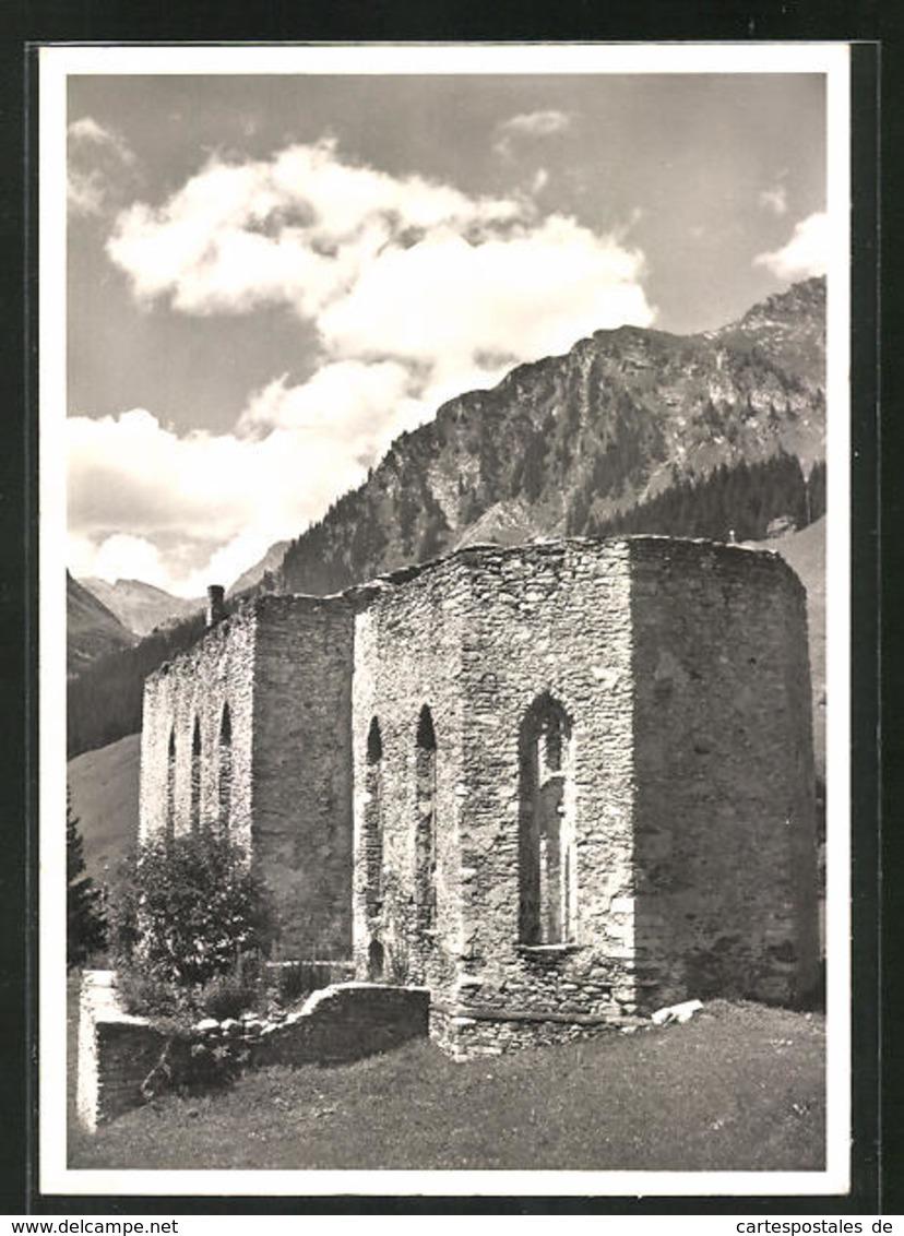 AK Casaccia, Ruine Der 1558 Zerstörten Wallfahrtskirche St. Gaudentius - GR Graubünden