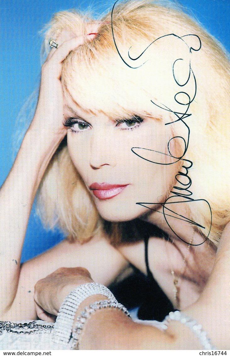 Carte Signée Amanda LEAR - Autographes