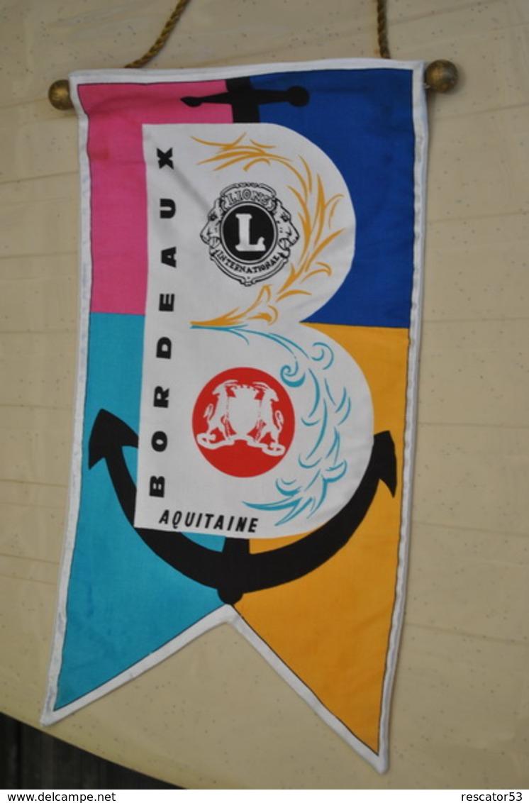 Rare Fanion Lion's Club Bordeaux - Organizations