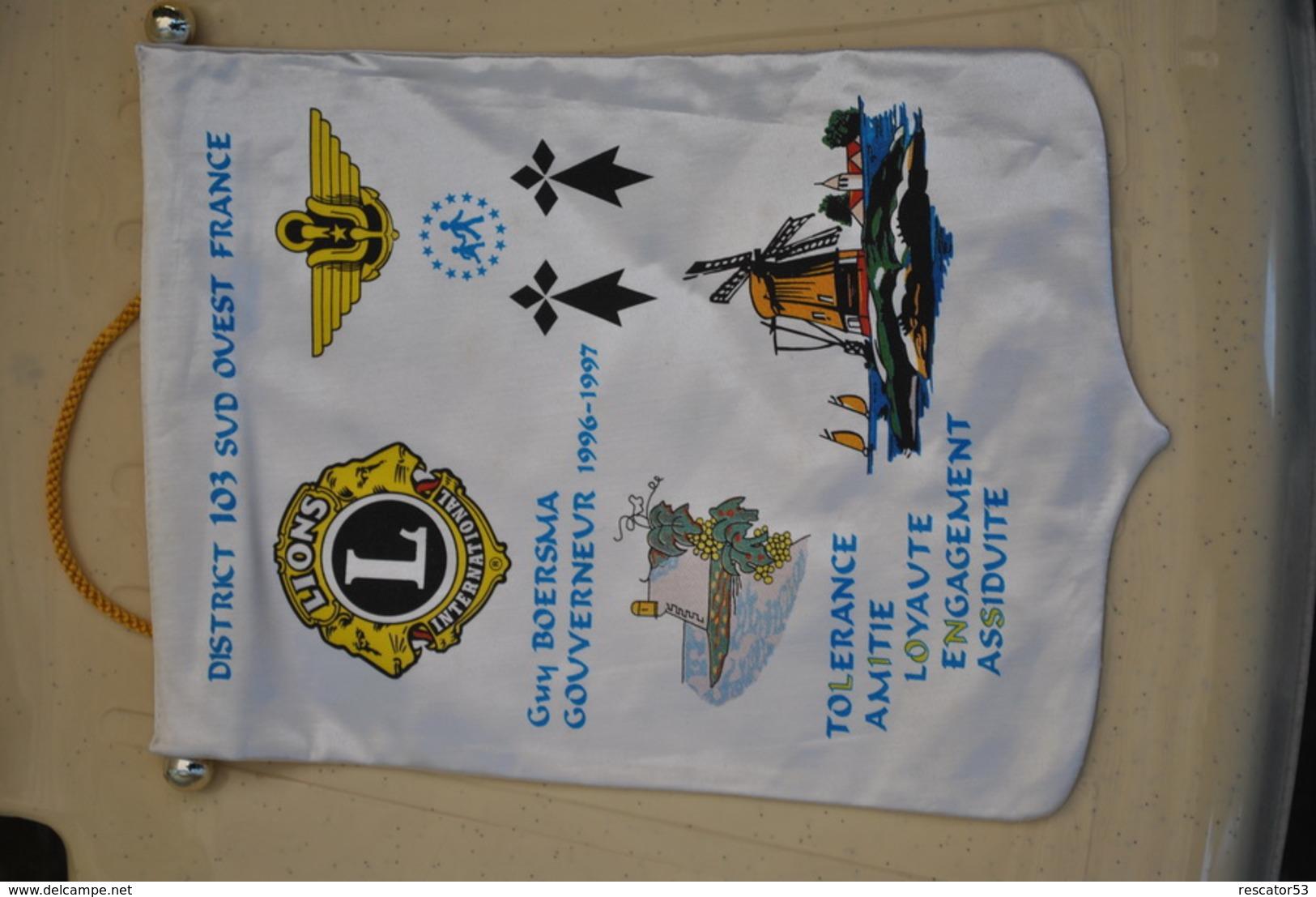 Rare Fanion Lion's Club  District 103 Sud-ouest - Organisations