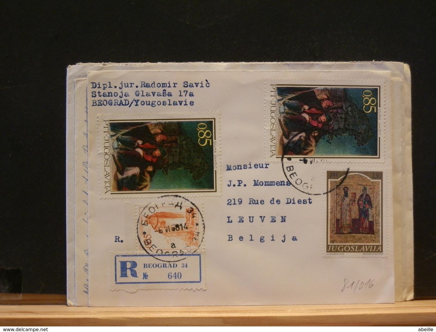 81/015  LETTRE DDR POUR LA BELG. 1968 - Lettres & Documents
