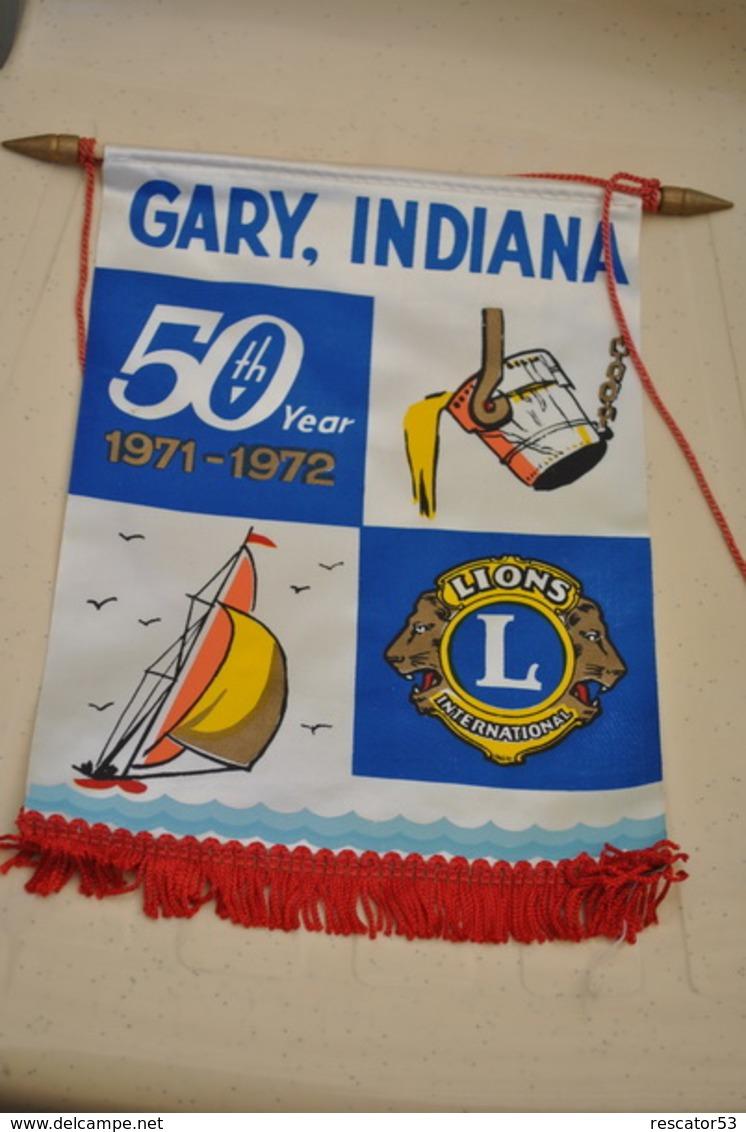 Rare Fanion Lion's Club Gary Indiana - Organizaciones