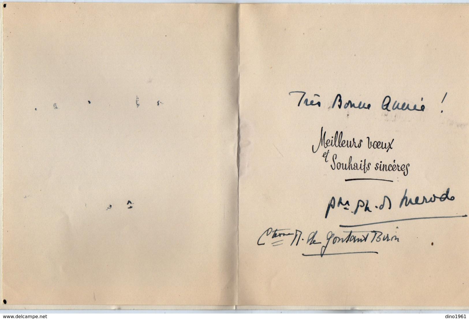 VP13.529 - TRELON - Noblesse - Autographe De Mr Le Prince Philippe De MERODE & Mme Micheline De GONTAUT - BIRON - Autographes