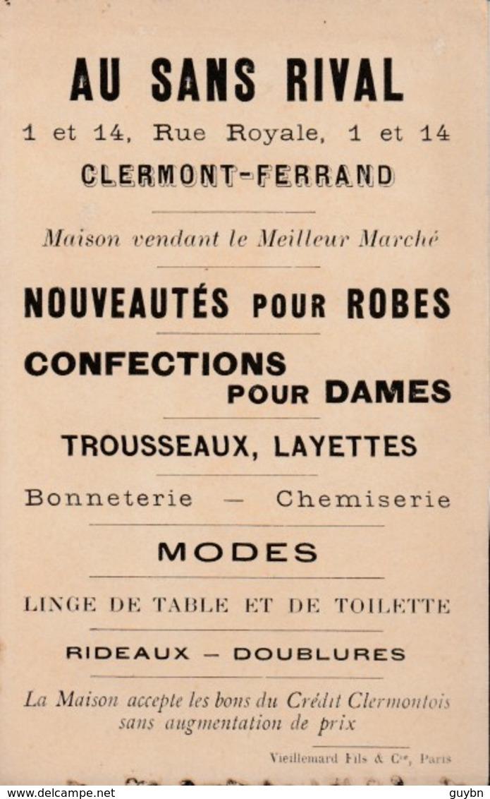 Chromo Au Sans Rival Clermond Ferrand .. Le Premier De L' An ..robes, Troussseaux, Layette, Bonneterie, Chemiserir - Sonstige