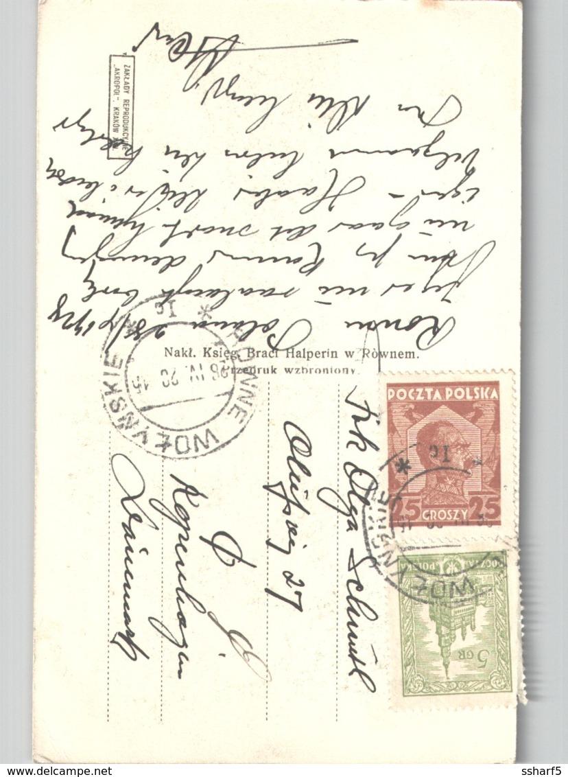 ROWNE Starostwo Sentv 1920 To Denmark - Polen