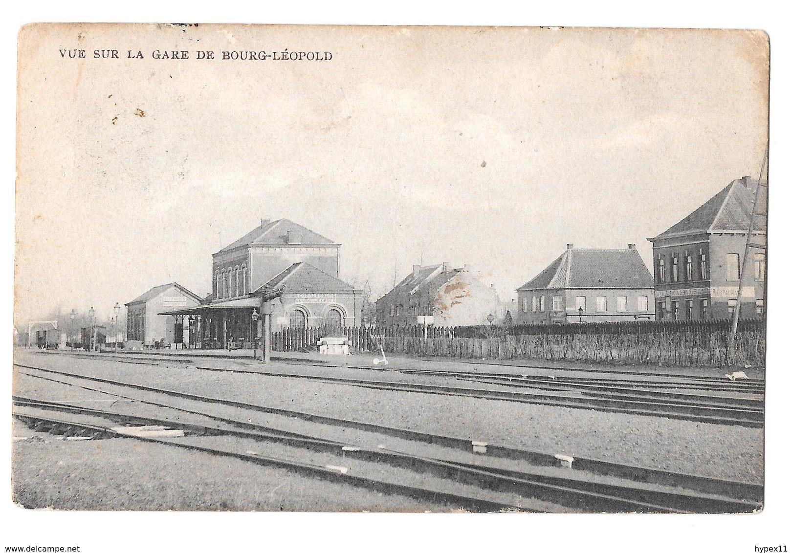 Vue Sur La Gare De Bourg Léopold 1919edit Aerts - Leopoldsburg