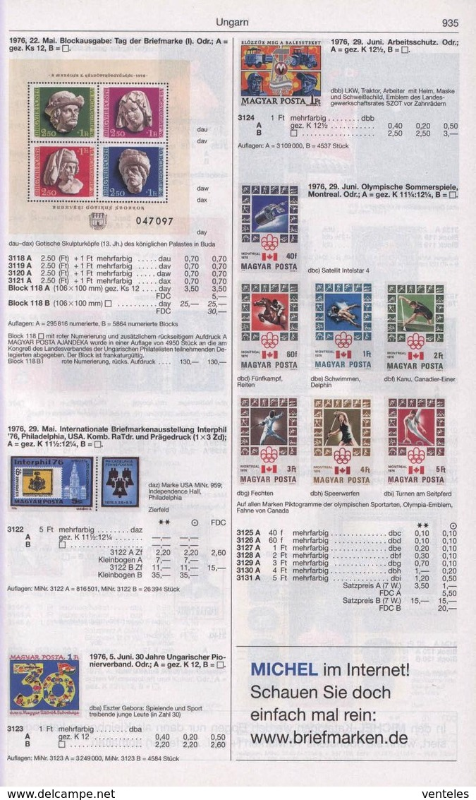 Hungary 29.06.1976 IMPERF Mi # 3125-31 В Bl 119 В Montreal Summer Olympics MNH OG - Verano 1976: Montréal