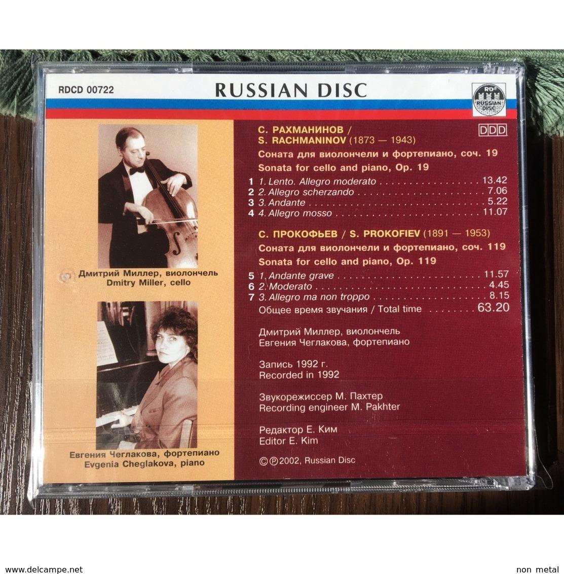 Dmitry Miller, Cello & Evgenia Cheglakova, Piano: Rachmaninov Sonata For Cello & Piano, Op.19; Prokofiev Sonata For Cell - Klassik