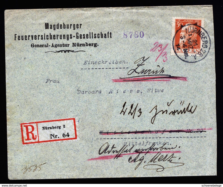 A5739) AD Bayern R-Brief Nürnberg 21.03,14 EF Mi.81II - Bayern