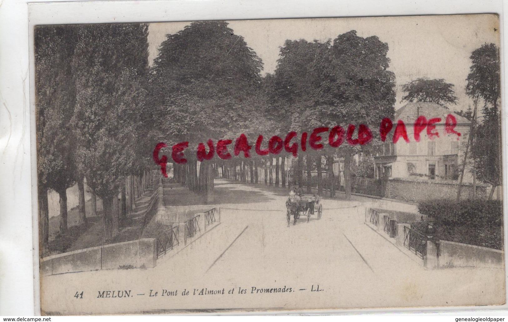 77 - MELUN - LE PONT DE L' ALMONT ET LES PROMENADES - Melun