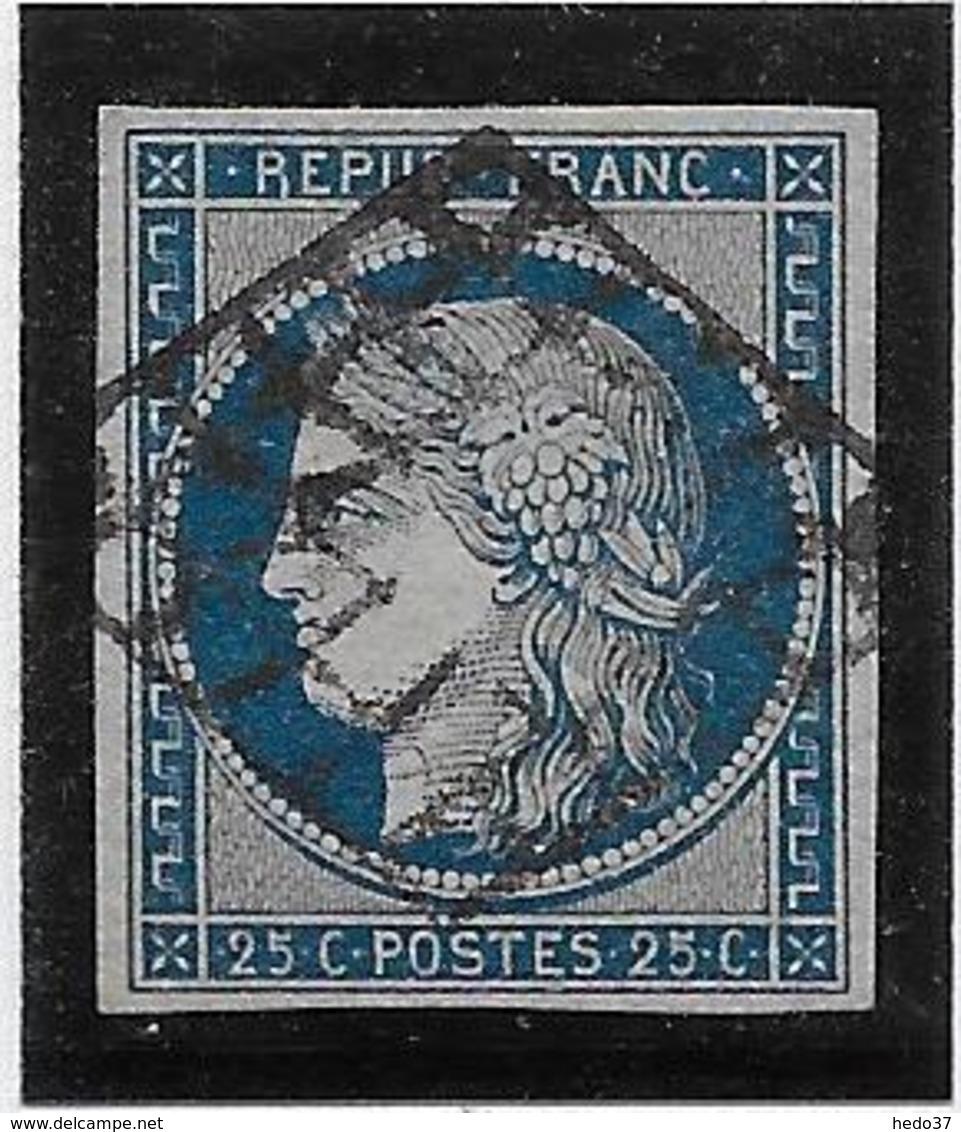 France N°4a - Bleu Foncé - Oblitéré - TB - 1849-1850 Cérès