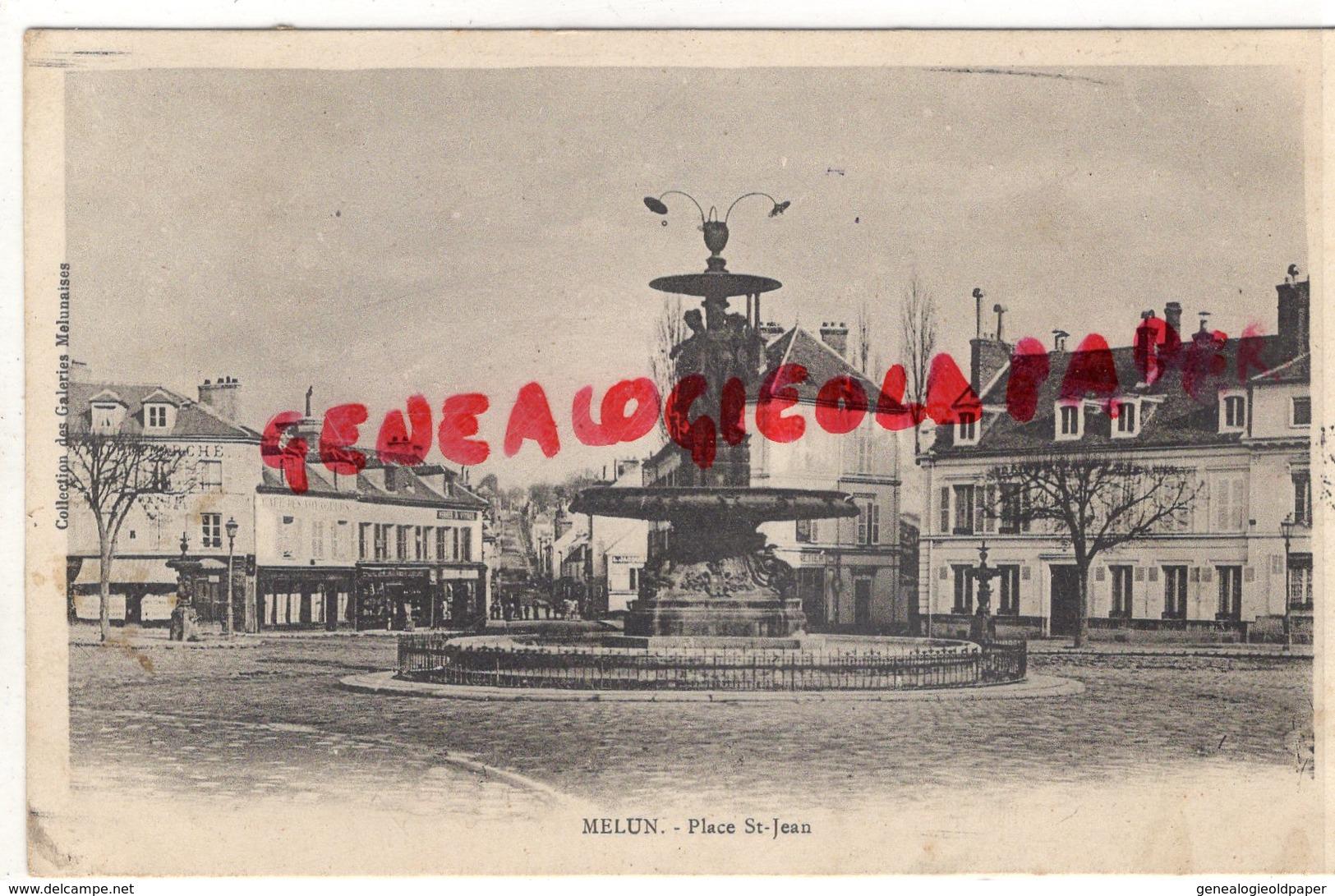 77 - MELUN- PLACE SAINT JEAN  CARTE PRECURSEUR - Melun