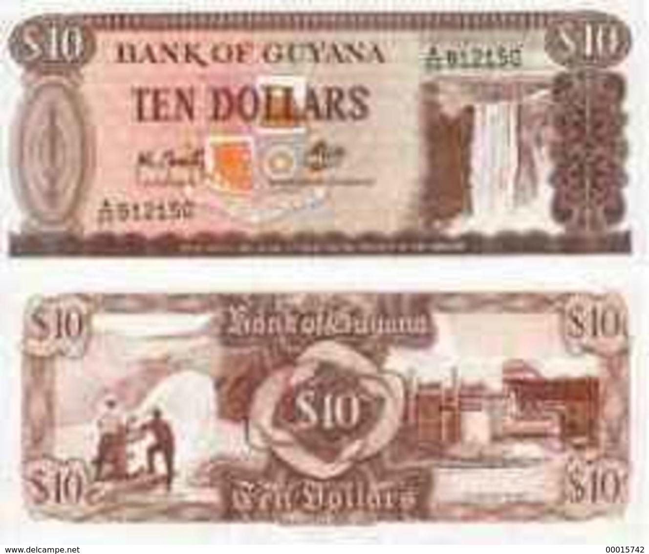 Guyana 10 Dollars (1966-92) P-23 UNC - Guyana