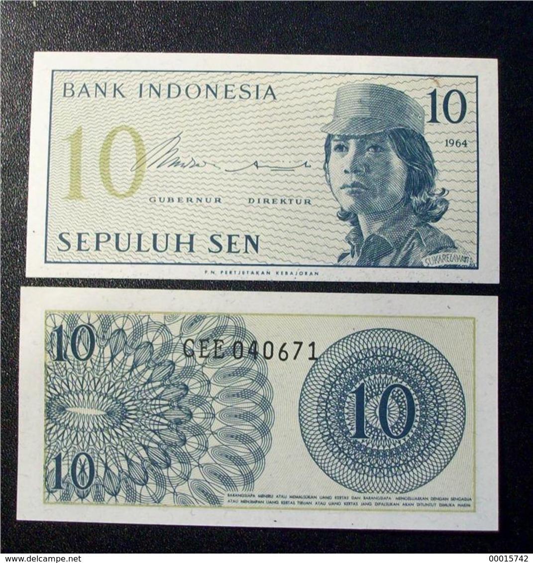 INDONESIA 10 SEN 1964 UNC - Indonésie
