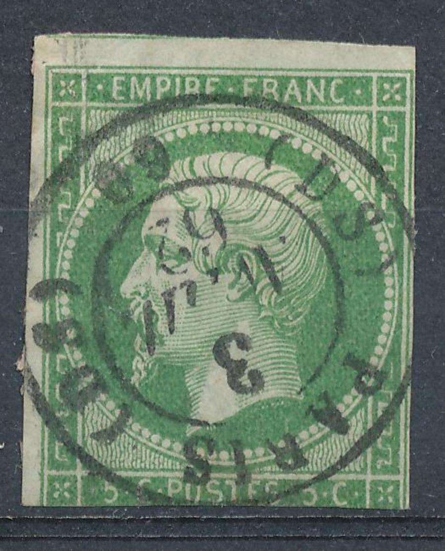 N°12 NUANCE ET OBLITERATION. - 1853-1860 Napoléon III