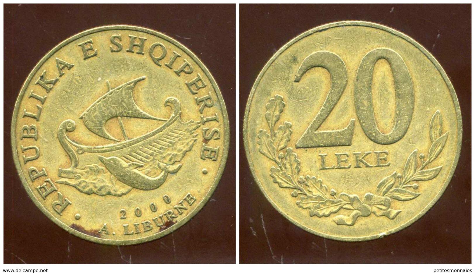 ALBANIE 20 Leke 2000 - Albanie