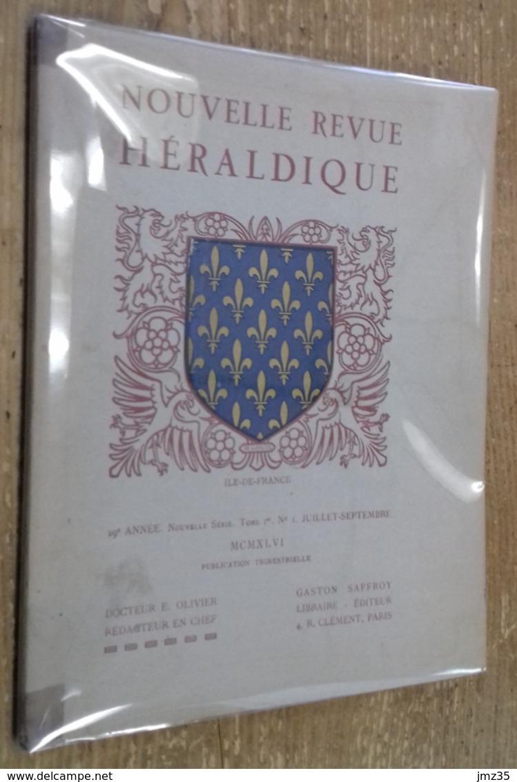 Nouvelle Revue D'Héraldique, 29e Année, Tome I, N°1 (juillet-septembre MCMXLVI) - Histoire