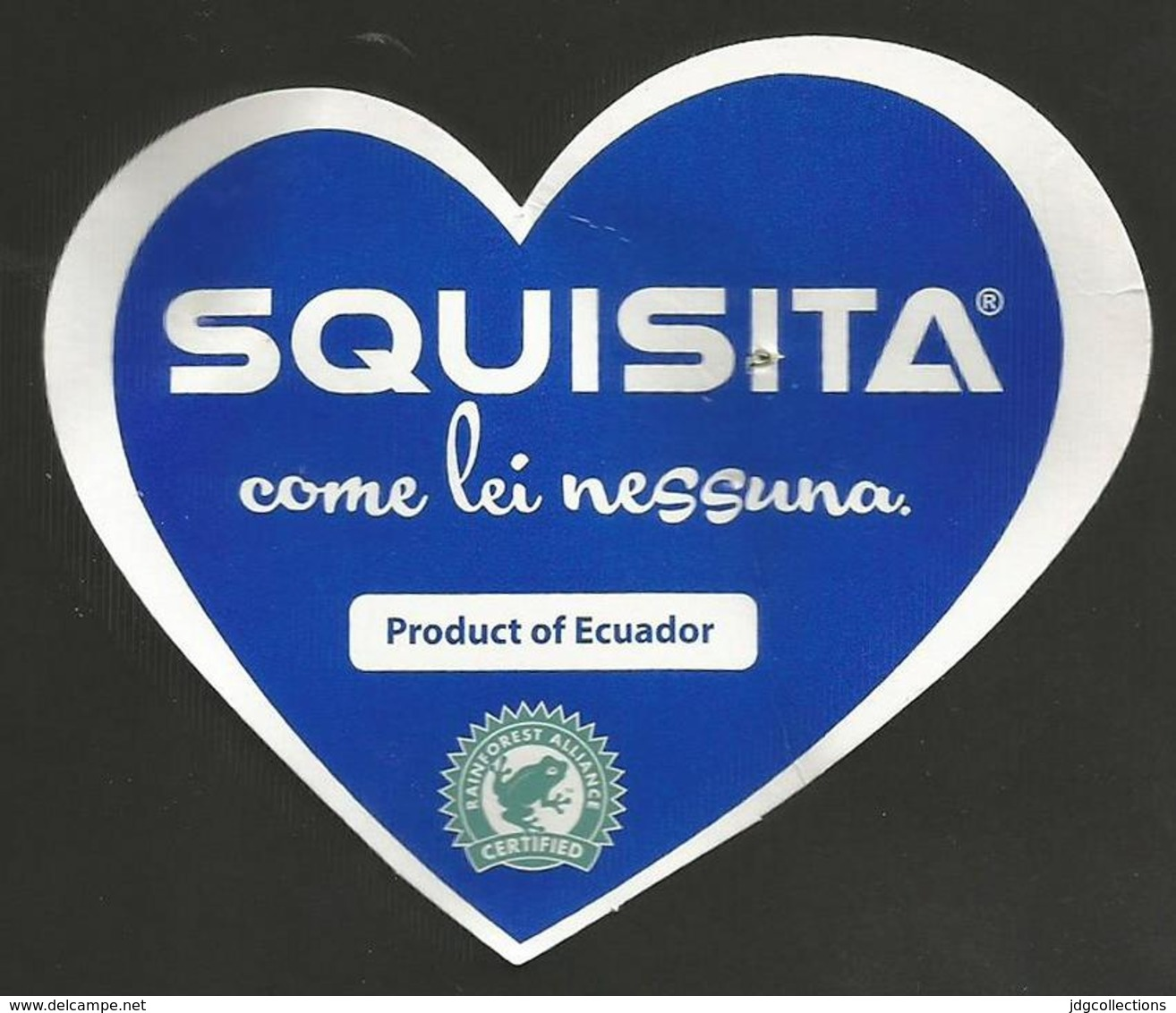 # PINEAPPLE SQUISITA ECUADOR Distributed By GRASSO Fruit Tag Balise Etiqueta Anhanger Ananas Pina Cuore Heart Coeur - Fruits & Vegetables