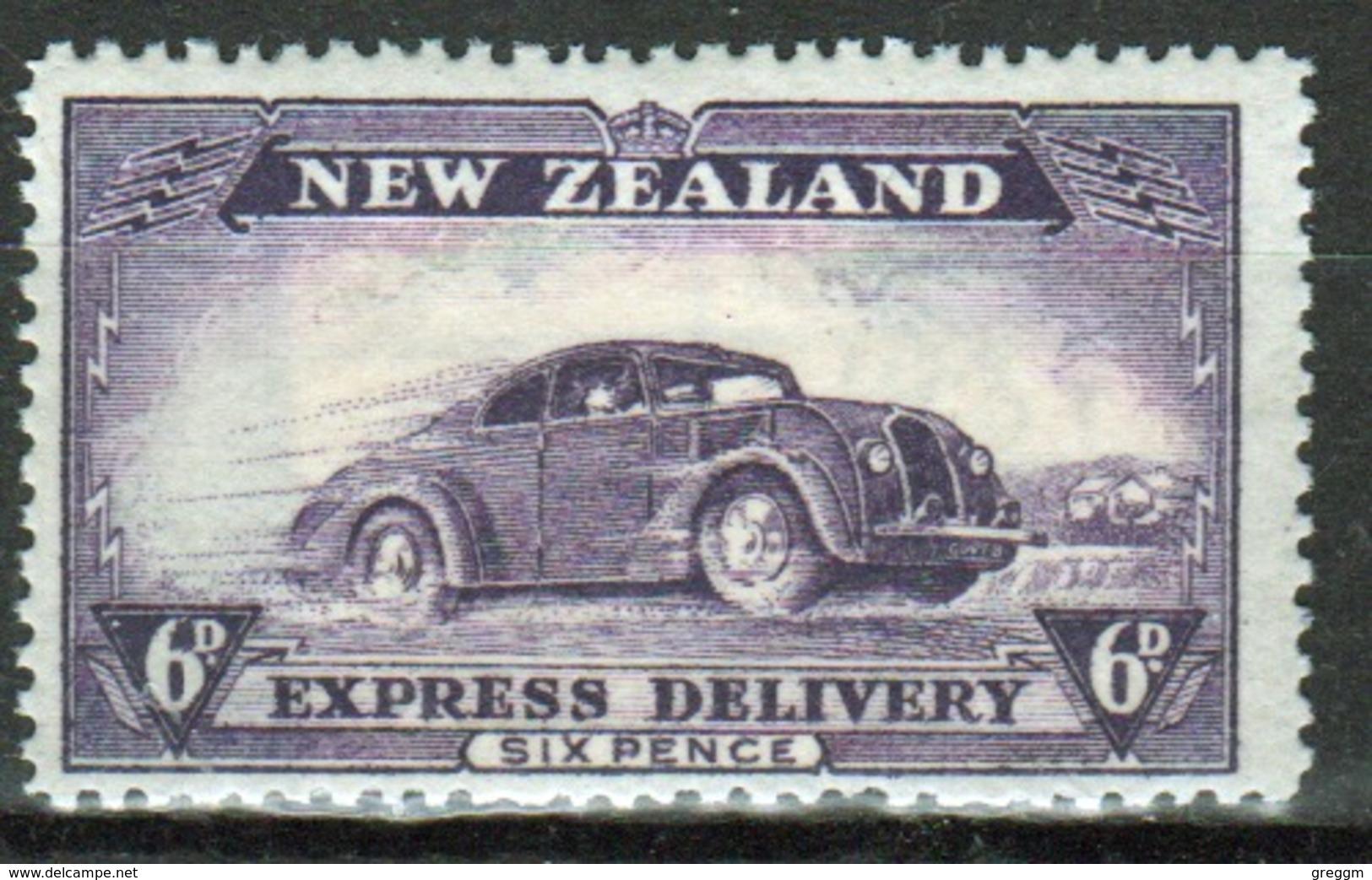 New Zealand 1939 Express Delivery George VI 6d Violet Single Stamp. - Express Delivery Stamps