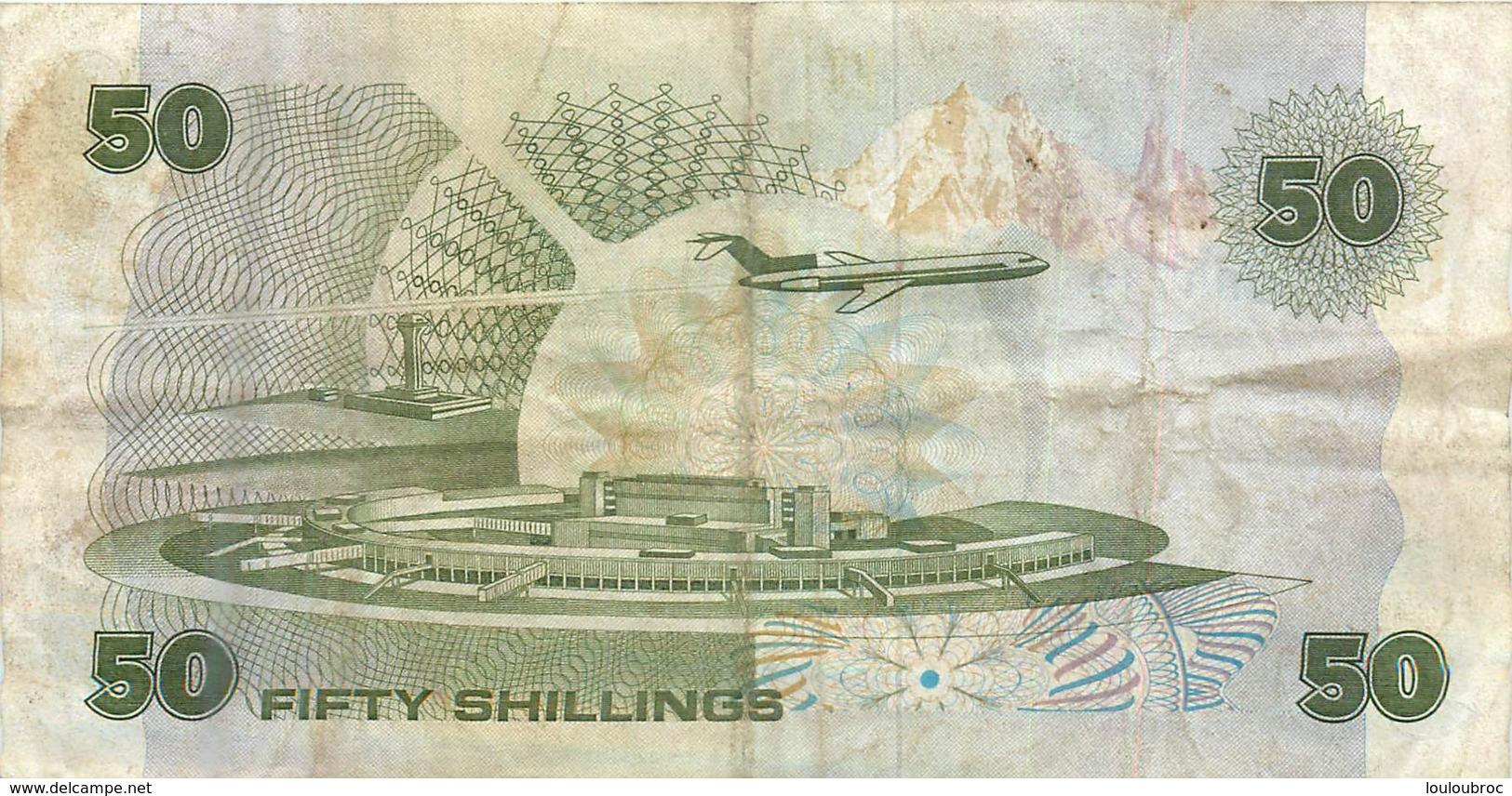 LOT DE 2 BILLETS KENYA   50 FIFTY ET SHILLINGS 1987 ET 100 SHILLINGS DE 1992 - Kenya