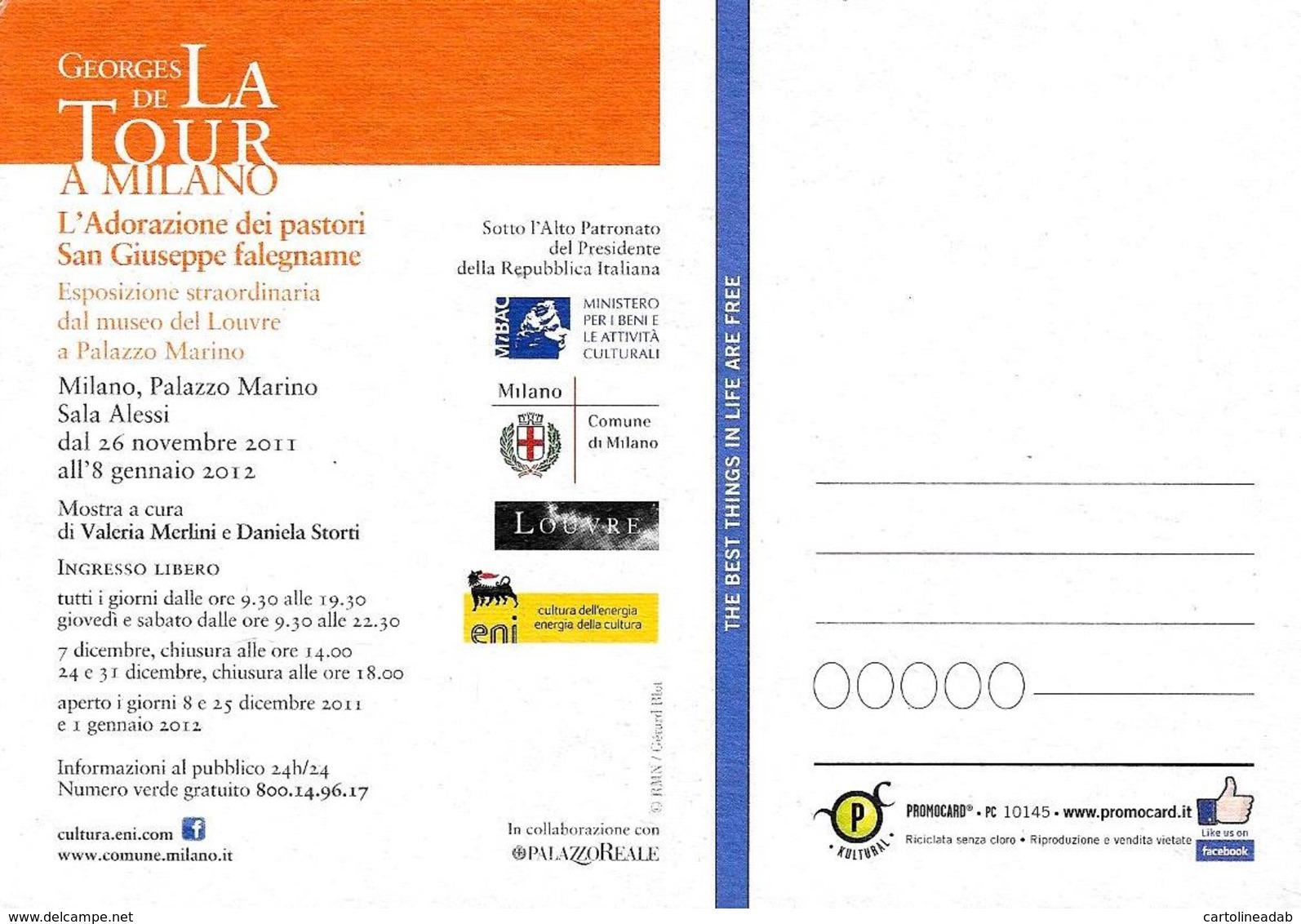 [MD2414] CPM - GEORGES DE LA TOUR A MILANO - PALAZZO MARINO - ADORAZIONE DEI PASTORI - PROMOCARD 10145 - Non Viaggiata - Eventi
