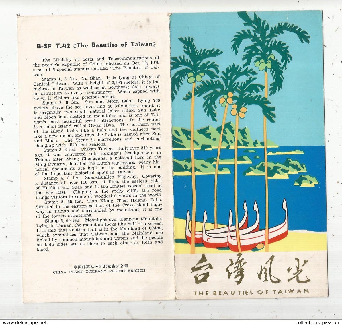 The Beauties Of TAIWAN , CHINE,  1979 , 2 Scans ,6 Timbres , 4pages - 1945-... République De Chine