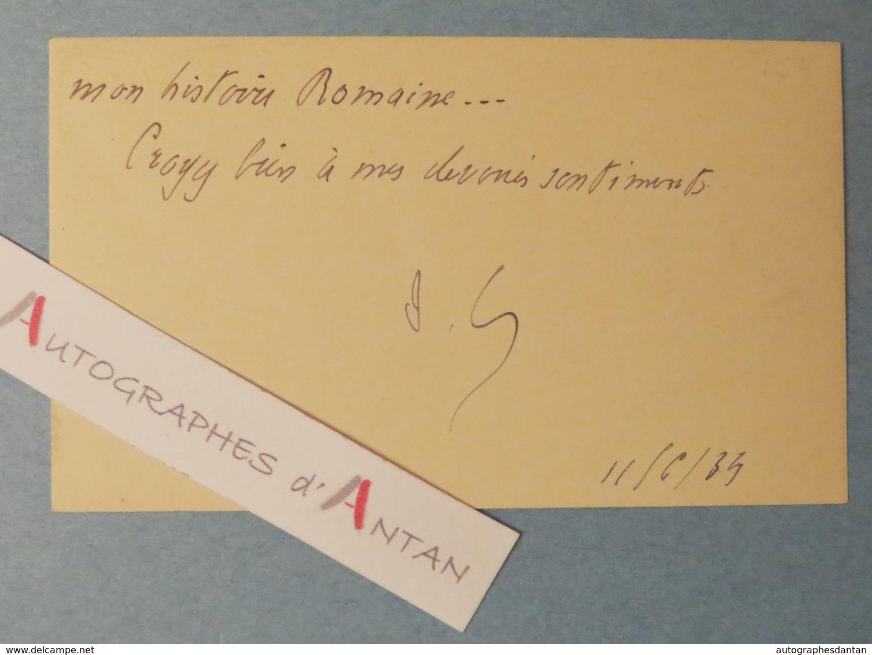 CDV 1934 Joseph CAILLAUX Sénateur De La SARTHE - Histoire Romaine - Carte De Visite Autographe - Le Mans - Autographes