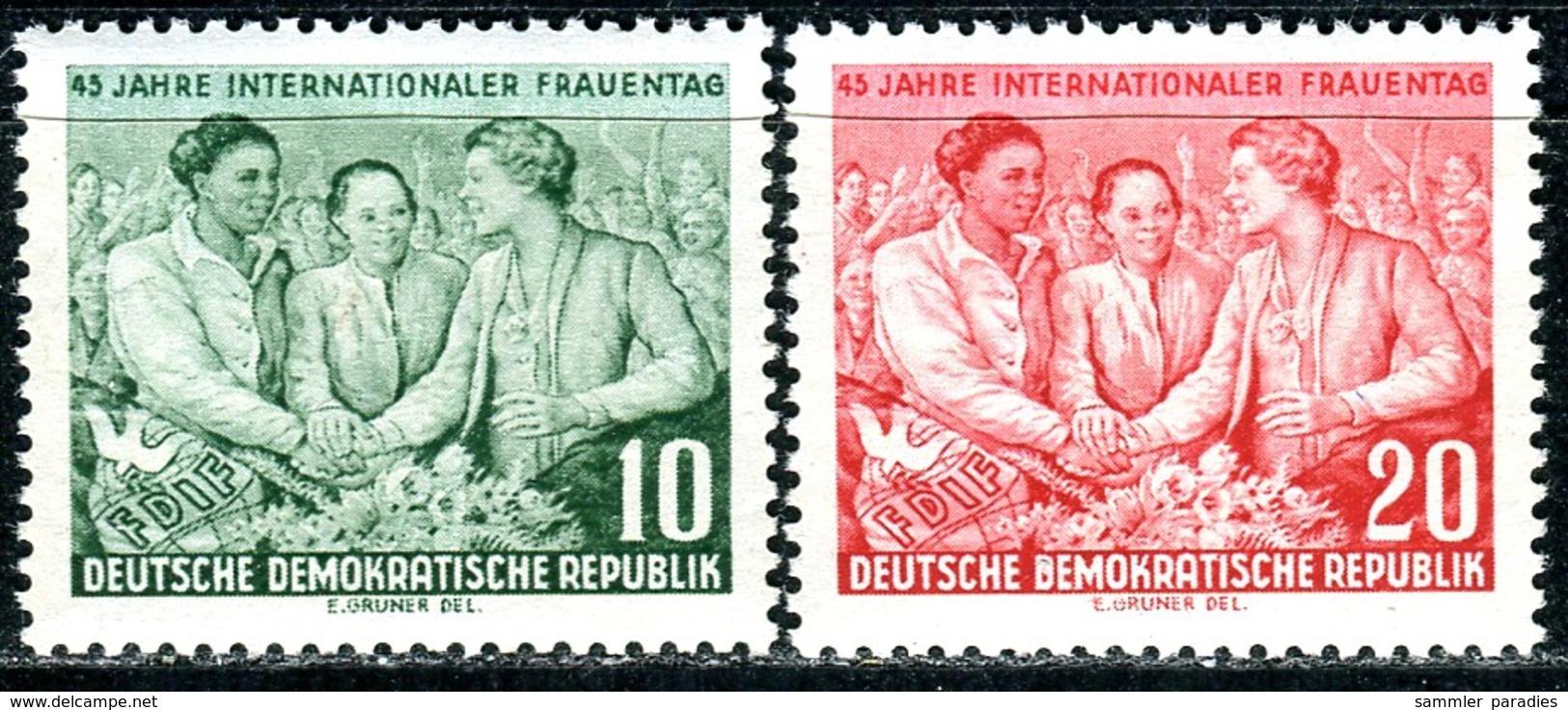 DDR - Mi 450 / 451 - ** Postfrisch (A) - 10-20Pf              Internationaler Frauentag - [6] République Démocratique