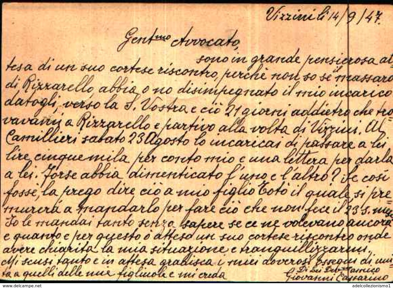 71147) INTERO POSTALE DA 60 C. TURRITA+40C.+3X1L.+2X2L. DEMOCRATICA DA VIZZINI  A RAGUSA IL 14-9-1947 - 6. 1946-.. Repubblica