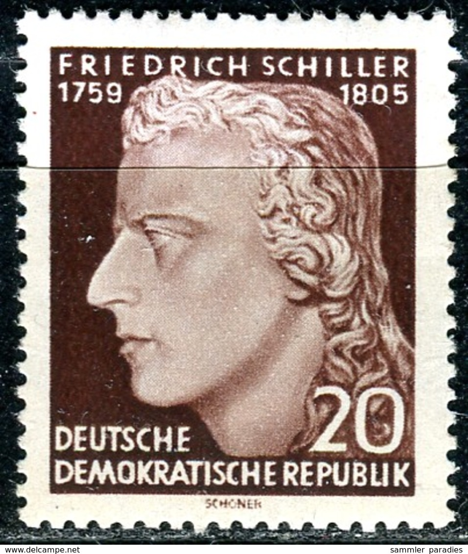 A12-49-4) DDR - Mi 466 A - ** Postfrisch (A) - 20Pf              Friedrich Schiller - [6] République Démocratique