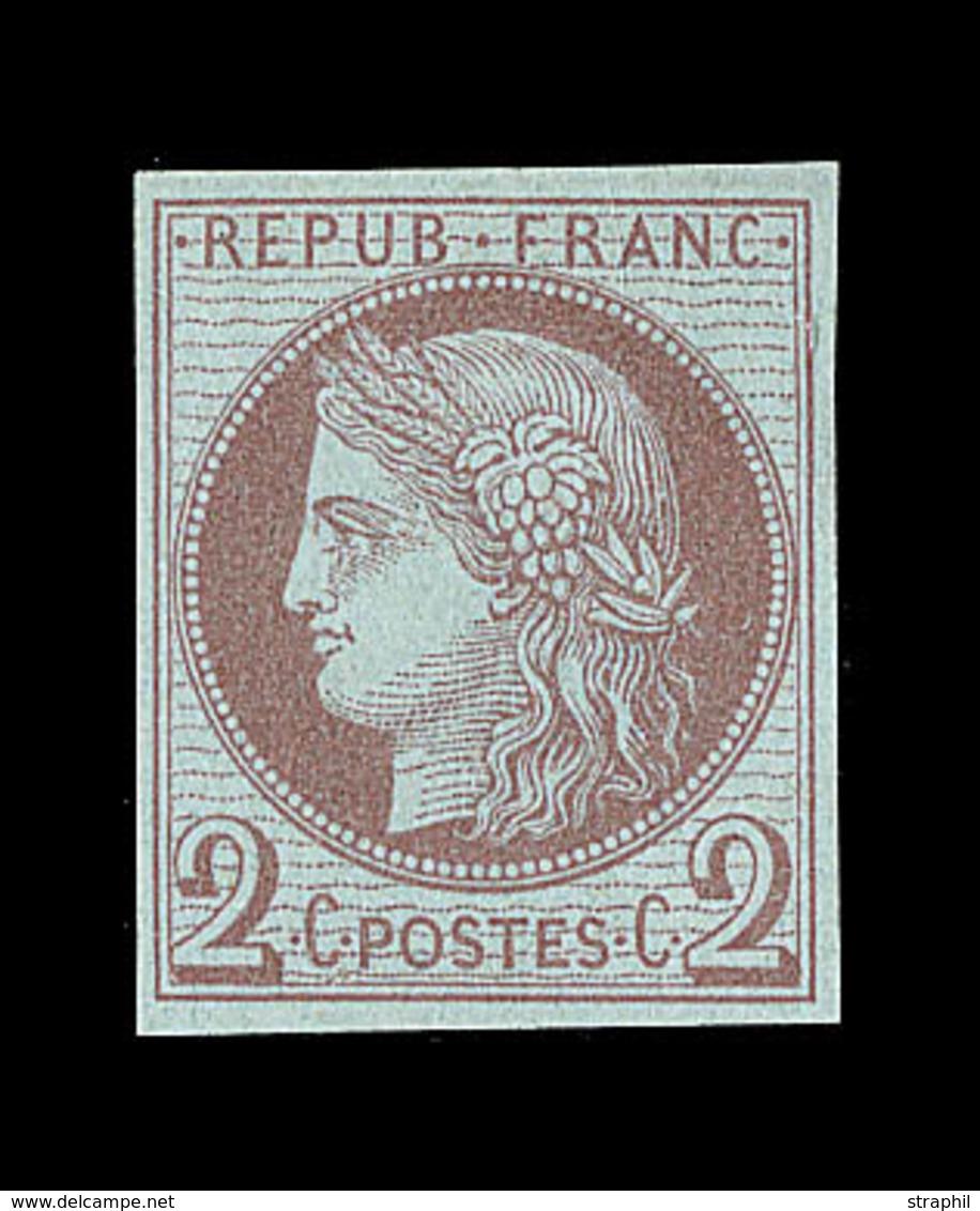 (*) ESSAIS - (*) - N°51 - 2c Brun S/azuré - ND - TB - France