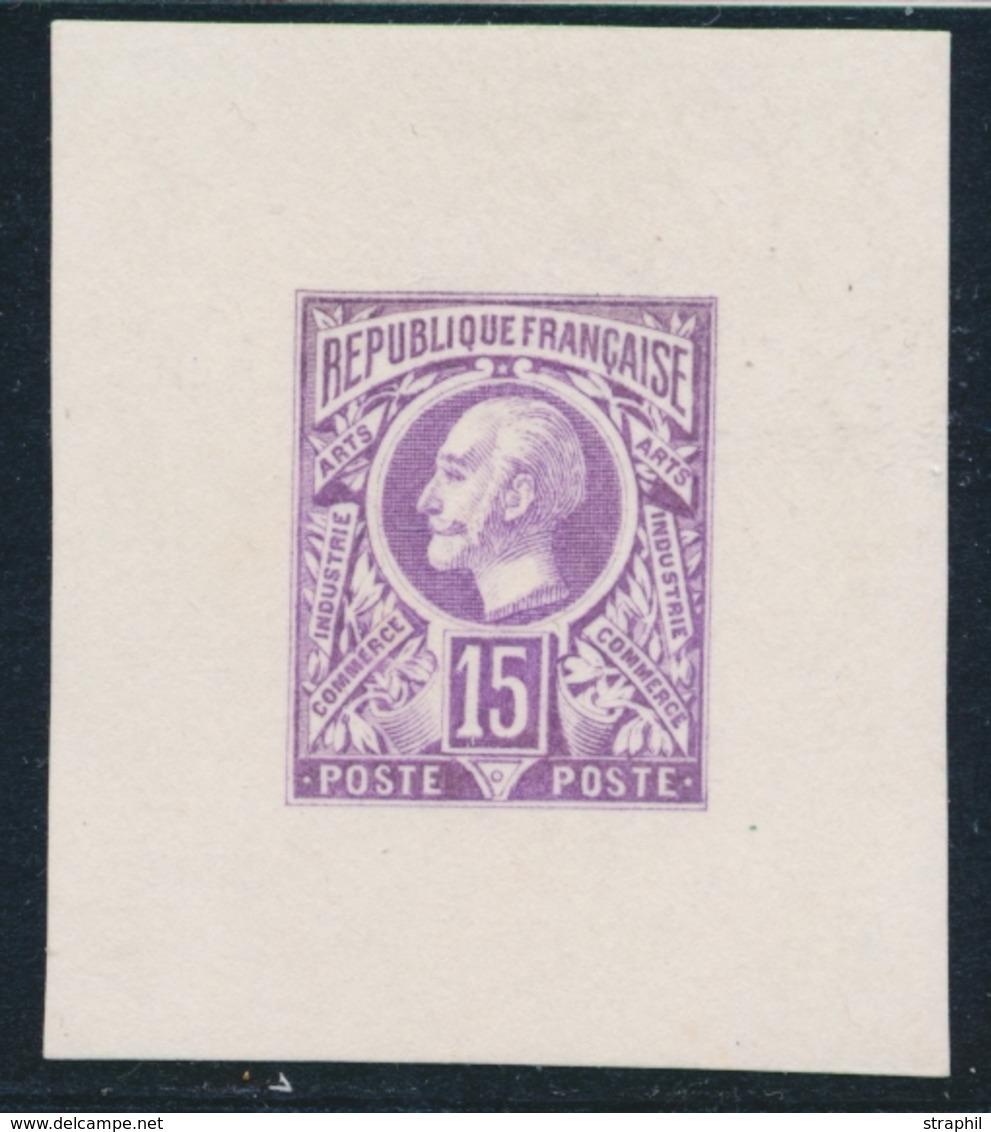 (*) ESSAIS - (*) - N°107 - Epreuve 15c Violet - Type Non Emis - TB - France