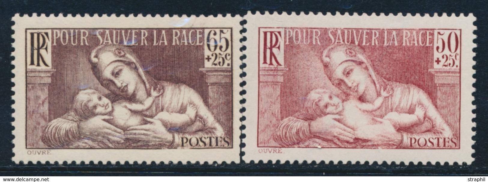 ** ESSAIS - ** - N°356 - Faciale 50c + 25c - Essai En Brun-rouge - TB - France