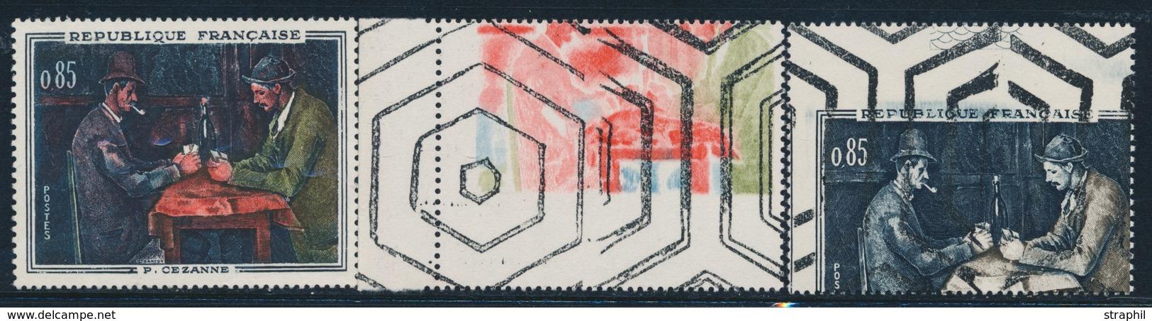 ** ESSAIS - ** - N°1321 - P. Cezanne - 2 Essais De Couleur - Obl Paraoblitération - TB - France