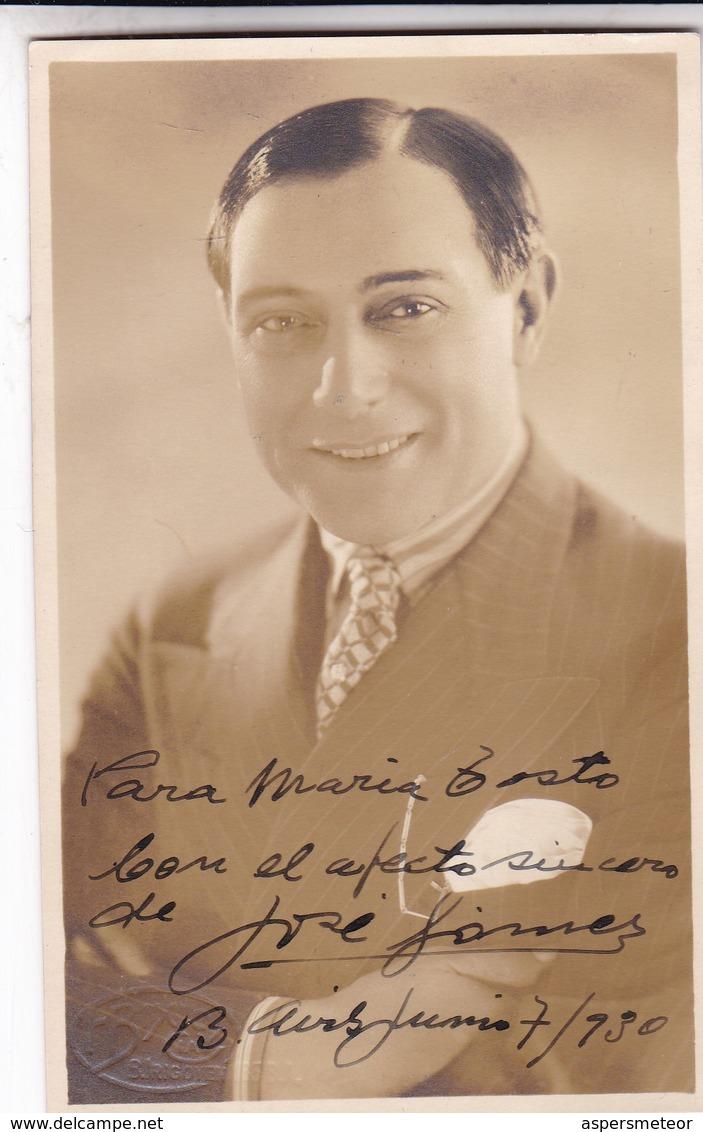 JOSE GOMEZ, ACTOR ESPAÑOL. AUTOGRAPHE. CIRCA 1930 SIZE 9x14cm- BLEUP - Autographes