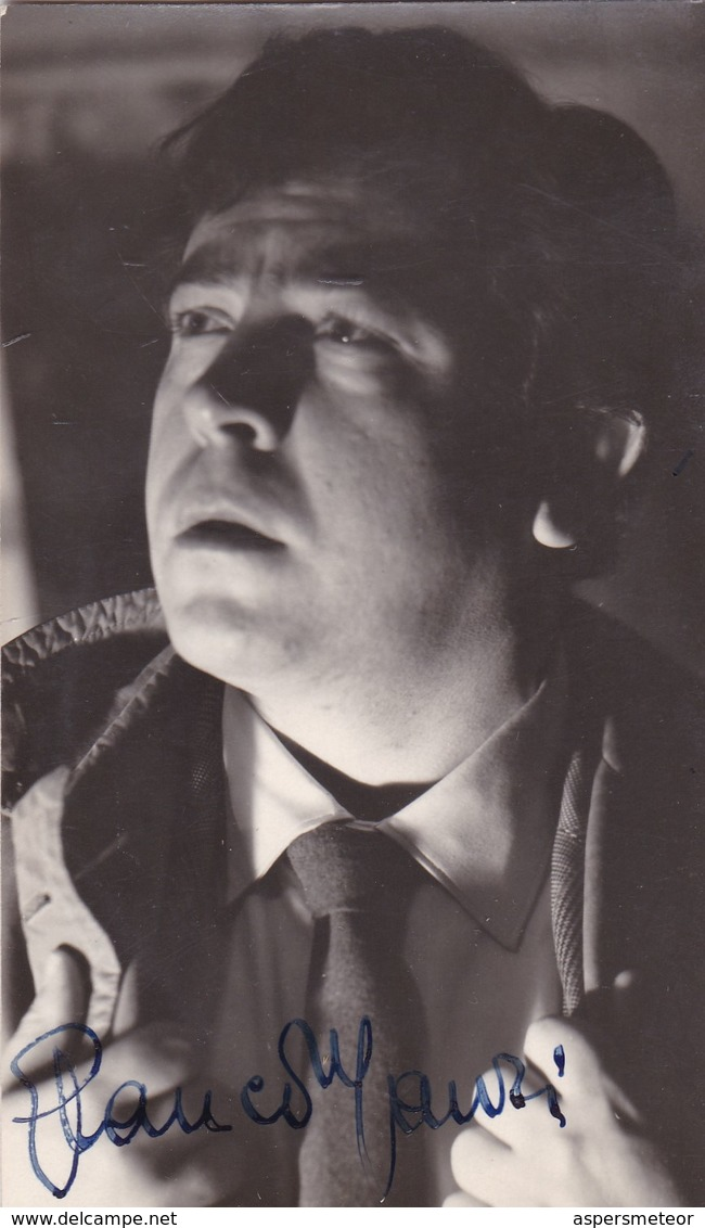 GLAUCO MAURI, ACTOR ITALIAN. AUTOGRAPHE. CIRCA 1955 SIZE 9x14cm- BLEUP - Autographes
