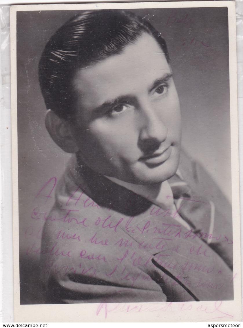 RENATO RASCEL, SINGER ACTOR ITALIAN. AUTOGRAPHE. CIRCA 1930 SIZE 9x14cm- BLEUP - Autographes