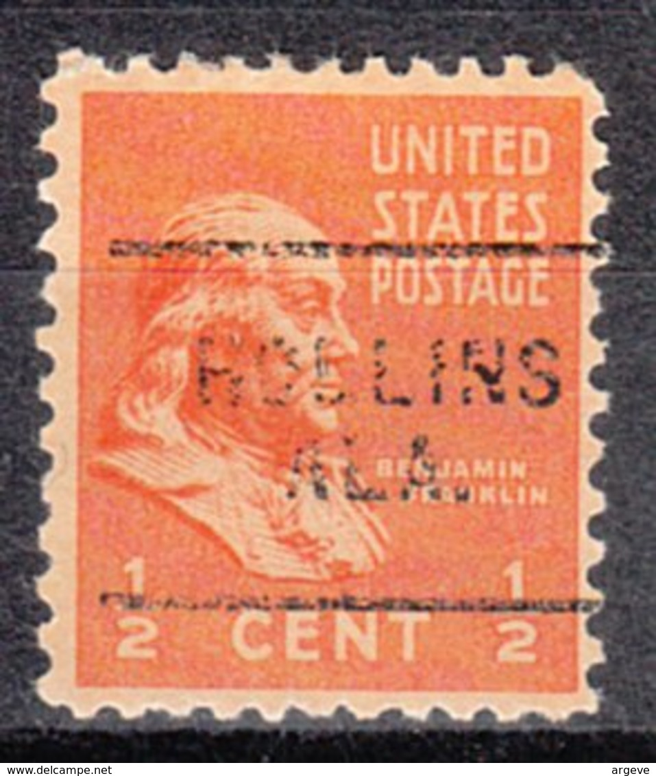 USA Precancel Vorausentwertung Preo, Locals Alabama, Hollins 703 - Etats-Unis