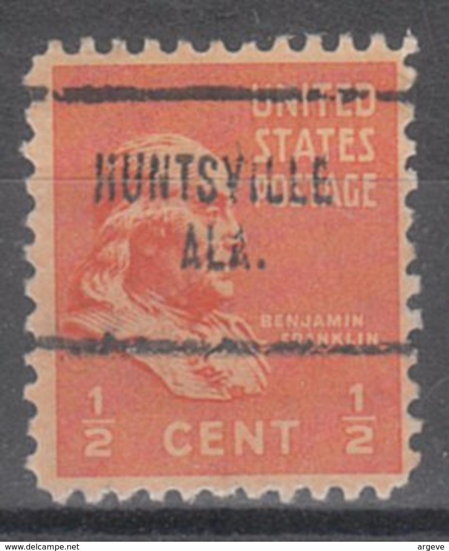 USA Precancel Vorausentwertung Preo, Locals Alabama, Huntsville 704 - Etats-Unis
