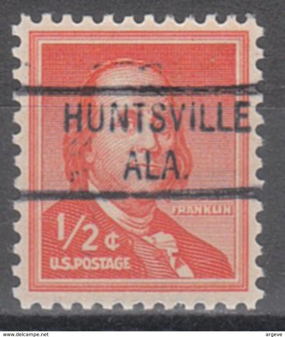 USA Precancel Vorausentwertung Preo, Locals Alabama, Huntsville 821 - Etats-Unis
