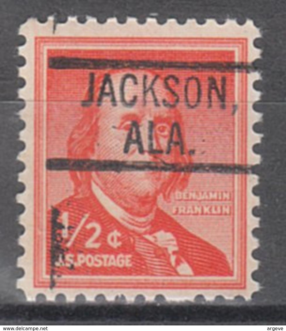 USA Precancel Vorausentwertung Preo, Locals Alabama, Jackson 802 - Etats-Unis