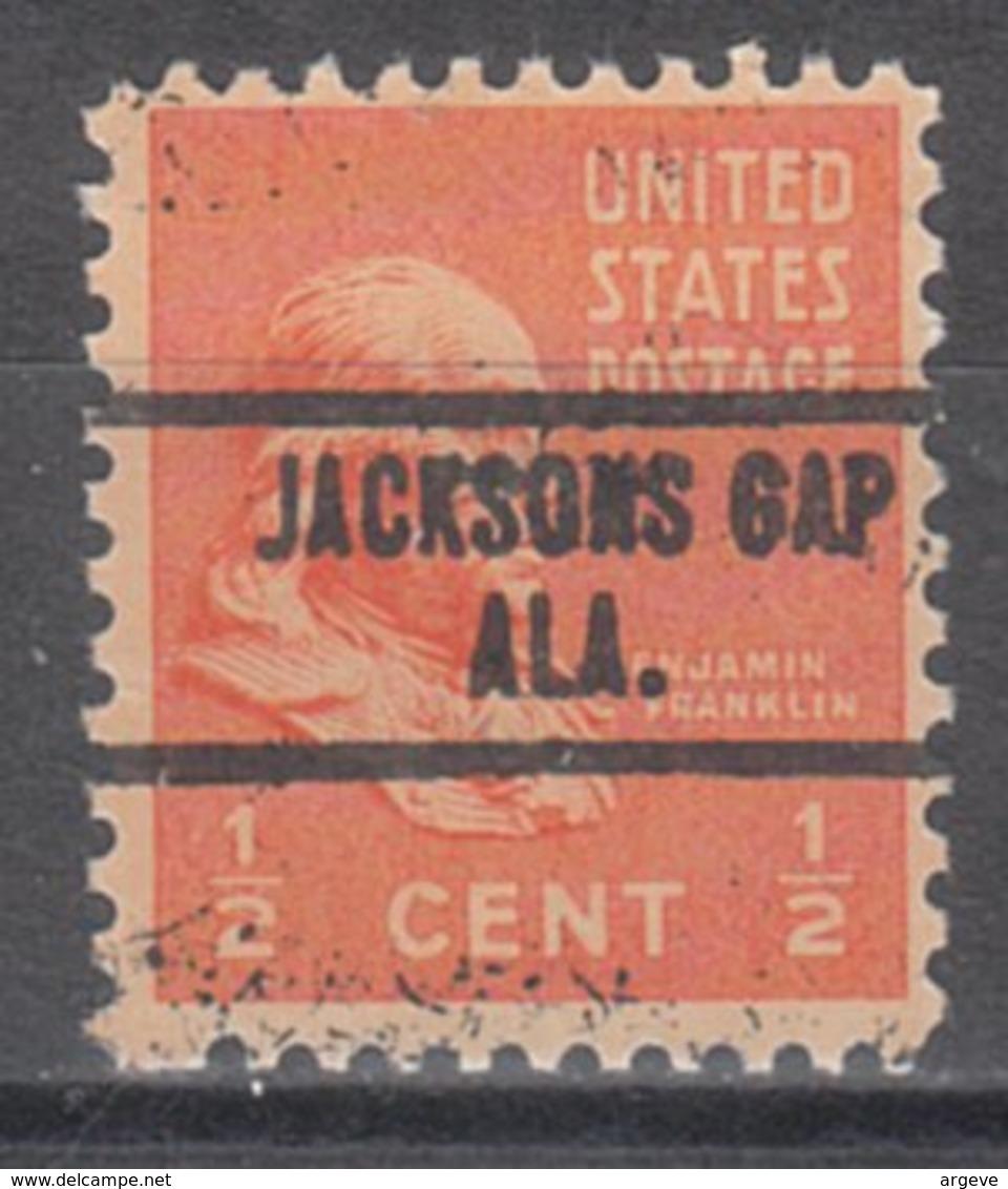 USA Precancel Vorausentwertung Preo, Locals Alabama, Jacksons Gap 734 - Etats-Unis