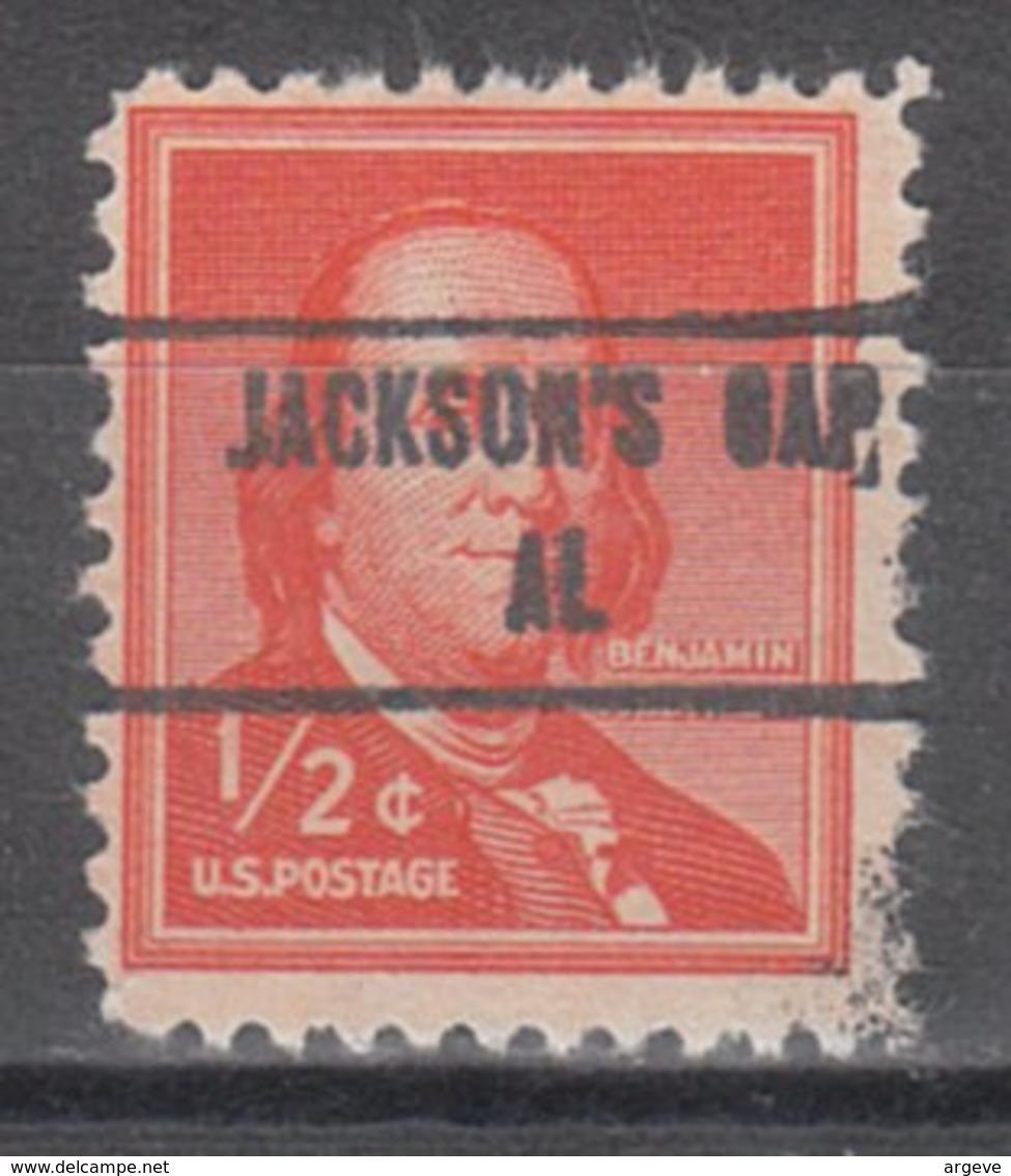USA Precancel Vorausentwertung Preo, Locals Alabama, Jacksons Gap 853 - Etats-Unis