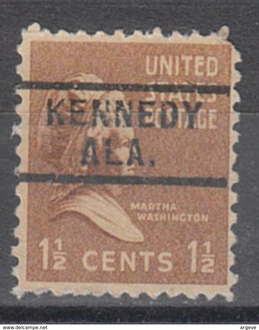 USA Precancel Vorausentwertung Preo, Locals Alabama, Kennedy 729 - Etats-Unis